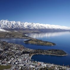Winter in Queenstown, NZ - The Remarkables are the Mountain Range.
