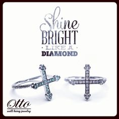 Shine bright like a diamond  #ottojewels #jewels #jewelry #cross #rings #emerald #ruby #givelove #collection #love #mypassion #mywork #spring #summer