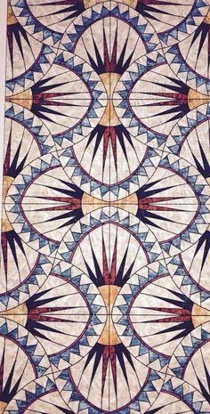 Art deco pattern, pattern art и tile patterns. Motifs Textiles, Textile Patterns, Quilt Patterns, Prints And Patterns, Graphic Patterns, Textile Prints, Design Patterns, Surface Pattern Design, Pattern Art