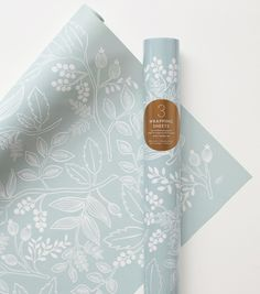 Spearmint Blossoms Wrapping Sheets - if this one is part of the mix, pair it with the Rosa and the Wildflower papers.