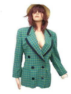 Escada Blazer blau Türkis grün Gr 42 (3187)  Willkommen im  www.Chelsea-Fashion-Glamur.de  Shop Secondhand und Neuware Mode zu günstigen Preisen   Dies und Das für jeden was.....