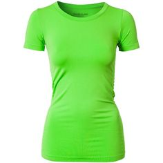 Pure Lime Seamless T-Shirt ($34) ❤ liked on Polyvore featuring tops, t-shirts, shirts, tees, green, sports fashion, womens-fashion, green tee, logo tees and logo t shirts