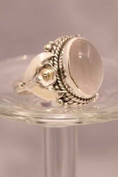925 Sterling Silver Ring Rose Quartz