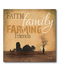 'Faith Family Farming' Gallery-Wrapped Canvas