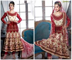 Stylish and Beautiful #MugdhaGodse Cream Red Long #AnarkaliSuit Click to Shop:- http://www.shoppers99.com/mugdha_godse_designer_anarkali_suits/mugdha_godse_creame_red_long_anarkali_suit_t-552-1500