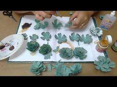 Egg Carton Crafts, Egg Crafts, Diy Home Crafts, Crafts For Kids, Handmade Flowers, Diy Flowers, Paper Flowers, Paper Succulents, Paper Plants