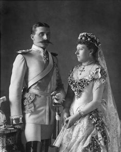 womenshistory:  Princess Beatrice married Prince Henry of Battenberg 1885 Getty Images / W. and D. Downey