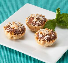 Nutella and Coconut Phyllo Tarts
