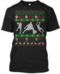 Ugly Xmas sweater for basketball guys. Christmas gifts for basketball lovers Ugly Xmas Sweater, Christmas Sweaters, Christmas Gifts, Basketball Gifts, Lifestyle Group, Pullover, Being Ugly, Lovers, Shirts