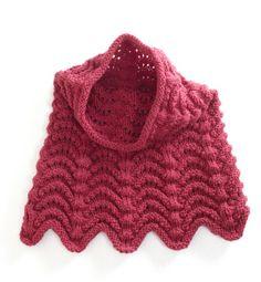 Free Knitting Pattern: Knitted Cowl Hood