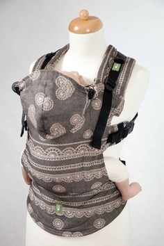 I love this carrier! Ergonomic Carrier, Baby Size, jacquard weave 60% cotton 40% bamboo - wrap conversion from ARABICA LACE - LennyLamb.com