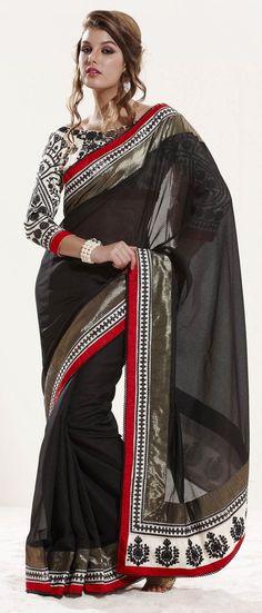 #Black Art #Silk #Saree with Double Blouse @ $120.38