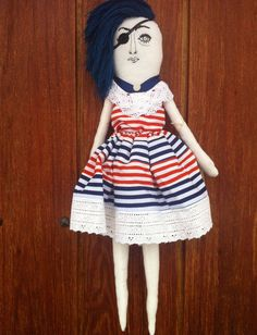 Eyepatch french tricolore by tobleroo on Etsy