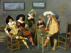 Dirck Hals (Дирк Халс, 1591-1656, Dutch Baroque Era painter). Merry Company at Table. 1620s