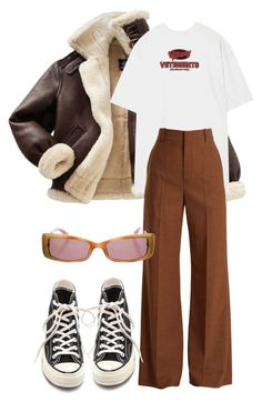 """""""Sans titre #3585"""" by mstfscxrus ❤ liked on Polyvore featuring Vetements, Chloé, Converse and Miu Miu"""