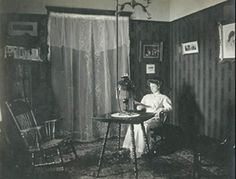 """Reading by gas light 1890's"""
