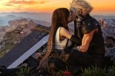 Cloud Strife, Cloud And Tifa, Final Fantasy Cloud, Final Fantasy Vii Remake, Resident Evil, Sans Art, Art Memes, Beautiful Couple, Location History