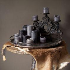 Iron Tray & Candleholder