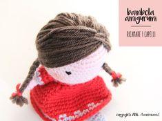 Come ricamare i capelli della bambola a uncinetto Anna. farecreare.it
