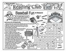 BASEBALL FUN for everyone - Enjoy a baseball-themed Two-Page Activity Set and spring sports-themed jumbo Word Search Puzzle with this discounted bundle! Includes the following products:   Baseball Fun for Everyone Two-Page Activity Set  Spring Sports Ju