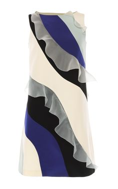 Ruffled Waves Sheath Dress by Huishan Zhang for Preorder on Moda Operandi