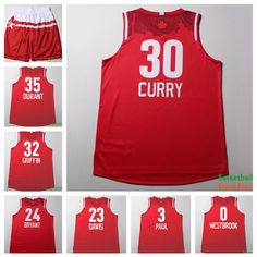 6b1f97ba6 Aliexpress.com   Buy 2016 All Star Game Western  30 Stephen Curry Red  Basketball Jersey