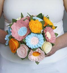 Felt Bouquet  Wedding Bouquet  Alternative by SugarSnapBoutique, $130.00