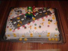 Dekoration meiner Fondant Motiv Torte  Super Mario & Luiggi