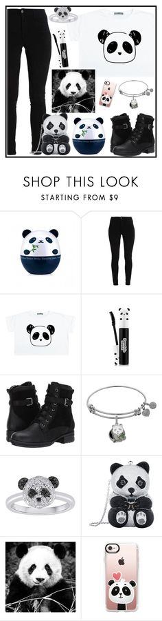 """""""Panda"""" by tlb0318 ❤ liked on Polyvore featuring TONYMOLY, Blondo, Judith Leiber and Casetify"""