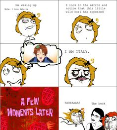 hetalia rage comics | The average morning of a Hetalia fan...