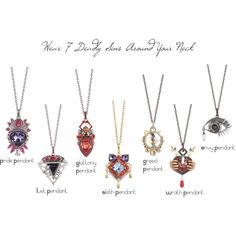 7 Deadly Sins Pendant Collection by Stephen Webster by chicstylista11 on Polyvore featuring Stephen Webster