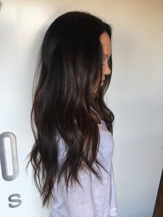 Luscious Balayage With Subtle Purple Tones - 20 Stunning Examples of Mushroom Brown Hair Color - The Trending Hairstyle Soft Black Hair, Light Brown Hair, Dark Brown Long Hair, Dark Chocolate Brown Hair, Ash Brown, Brown Hair Balayage, Brown Blonde Hair, Dark Brunette Hair, Brunette Highlights