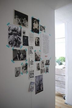 Masking tape collage with pictures