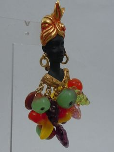 ASKEW LONDON BLACKAMOOR/FRUIT SELLER BROOCH ! #ASKEWLONDON