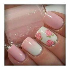 Blanc et petite rose... ...