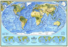 World Map - Physical (1994)