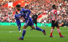 Hazard cut inside down the right and planted a left-footed shot through the legs of Fraser Forster to put Chelsea 1-0 up