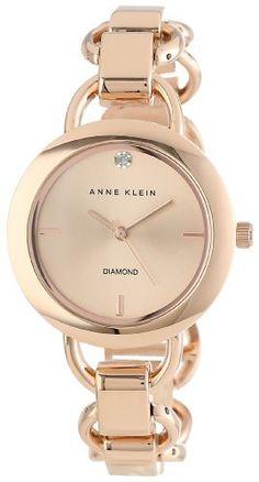Reloj Anne Klein Dial con detalles de diamante tono oro rosa AK / 1384RGRG   | Antes: $255,000.00, HOY: $198,000.00