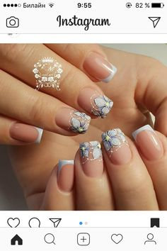 Image may contain: one or more people and closeup Fall Nail Art Designs, Creative Nail Designs, Toe Nail Designs, Beautiful Nail Designs, Beautiful Nail Art, Cute Nails, Pretty Nails, Navy Nails, Nail Photos