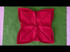 Christmas Table Setting - How to Fold a Rose Flower - Napkin Folding for Restaurant Table Setting - YouTube