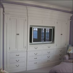 In Search of: Built-in cabinets for the master bedroom - Pencil Shavings Studio //Pencil Shavings St Bedroom Wall Units, Bedroom Built Ins, Closet Built Ins, Tv In Bedroom, Master Bedroom Closet, Bedroom Wardrobe, Bedroom Storage, Bedroom Decor, Wardrobe Tv
