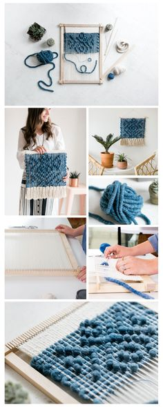 featured maker The Crafter's Box September Workshop is Pibione Tapestry Weaving led by Lindsey Campbell Weaving Wall Hanging, Weaving Art, Weaving Patterns, Tapestry Weaving, Loom Weaving, Baby Knitting Patterns, Loom Knitting, Hand Weaving, Knitting Tutorials