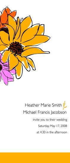 Sunflower Wedding Invitation by Partysprinkle on Etsy