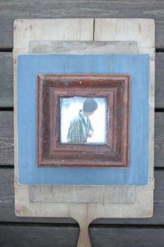 Reclaimed wood picture frame chunky vintage by mysweetsavannah, $38.00