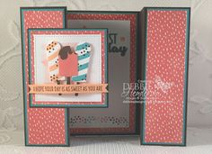 Double Gatefold card from regular size card stock: Debbie's Designs: Color Fusers February Blog Hop! photo tutorial includes folding measurements