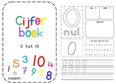 Juf Shanna: Cijferboek Play Based Learning, Fun Learning, Aperol, Number Games, Kids Class, Preschool At Home, Math Numbers, Writing Skills, Learn To Read