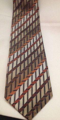 Geoffrey Beene 100% Silk Testurized Multi Color Stain Resistant Neck Tie #GeoffreyBeene #NeckTie