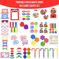 Red Candy Shoppe Birthday Party Candy Crush Party Printable Photo Booth PhotoBooth Props. Only $5.00! Buy it now at www.amandakeyt.com. Buy the app! Enjoy life!