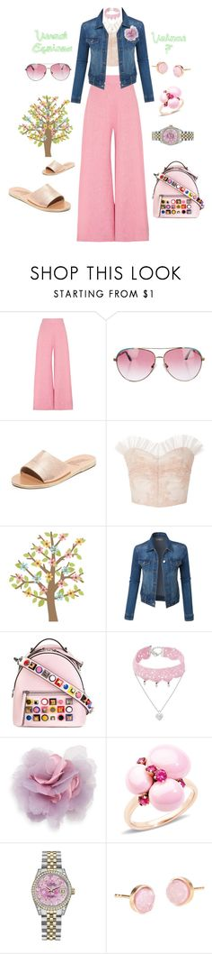 """""""Vernal Equinox Volume 7"""" by michele-nyc ❤ liked on Polyvore featuring Paper London, Minnie Rose, Ancient Greek Sandals, Rodarte, Fendi, Design Lab, Cara, Pomellato, Rolex and Pernille Corydon"""