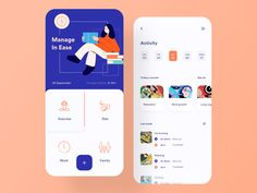 Reading app onboarding by Zuairia Zaman for Awsmd on Dribbble Web Design, Layout Design, App Ui Design, Graphic Design, Dashboard Design, Interface Design, Mobile App Design, Web Mobile, Task Manager